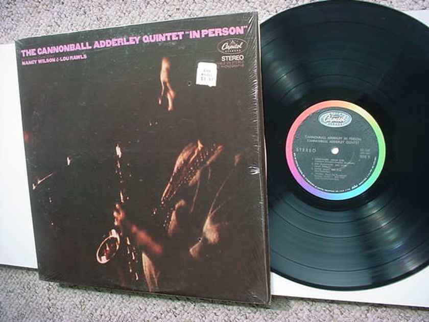 jazz The Cannonball Adderley Quintet - in person lp record with Nancy Wilson Lou Rawls in shrink Capitol
