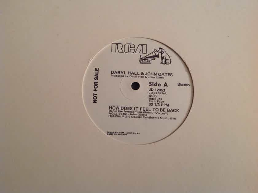 Hall & Oates How Does It Feel To Be Back RCA Records Promo 12 Inch Single