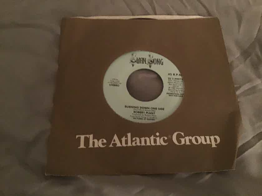 Robert Plant Promo Mono/Stereo 45 NM  Burning Down One Side