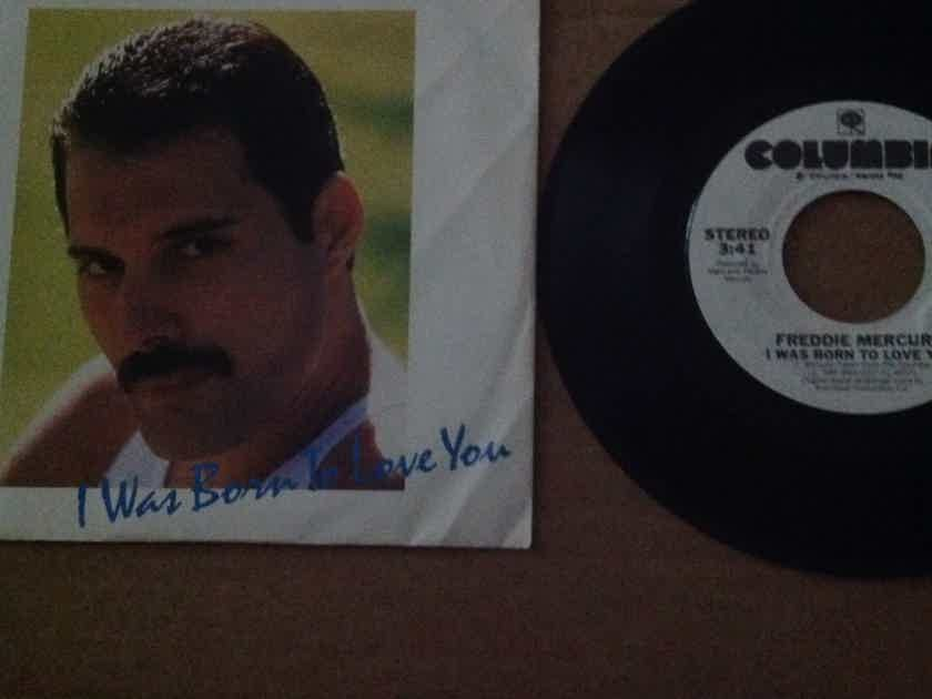 Freddie Mercury - I Was Born To Love You Columbia Records Promo 45 Single With Picture Sleeve NM