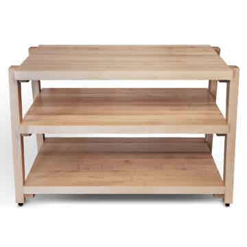 "Butcher Block Acoustics rigidrack™ 30"" X 18"" - 3 Shelf - Maple Shelves - Maple Legs"