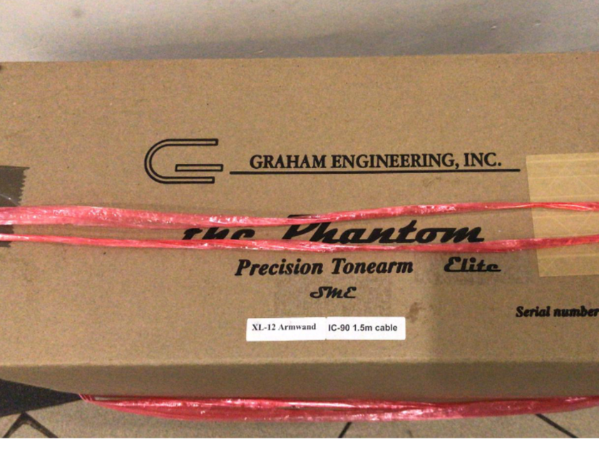 """Graham Engineering Phantom Elite Tonearm 12"""" New!!"""