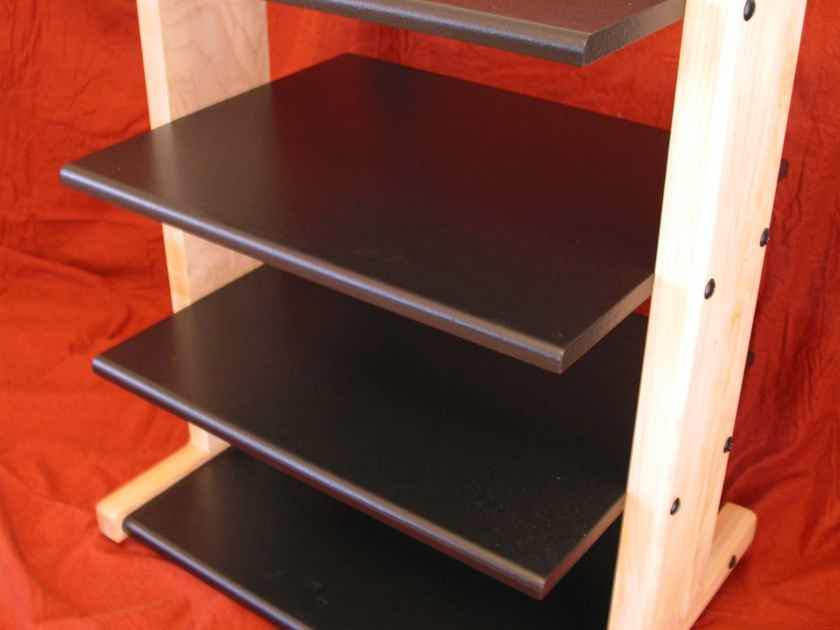 Standman 4 shelf Maple equipment rack
