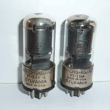 Sylvania 6SJ7GT VT-116 JAN Tubes