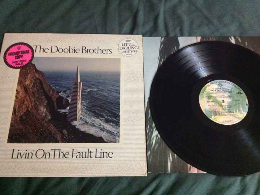 The Doobie Brothers - Livin' On The Fault Line Warner Brothers Records Promo Sticker Front Cover Vinyl NM