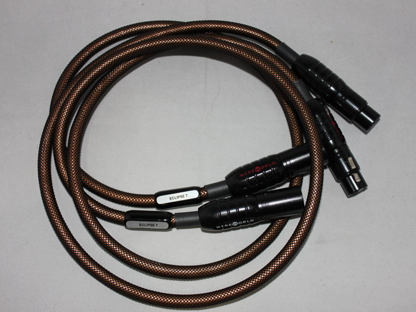 Wireworld Eclipse 7 2.0m XLR interconnect cable pair