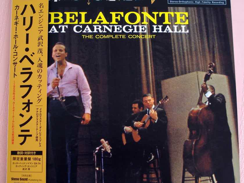 BELAFONTE AT CARNEGIE HALL Released by the prestigious STEREOSOUND Magazine Japan Audiophile NEW