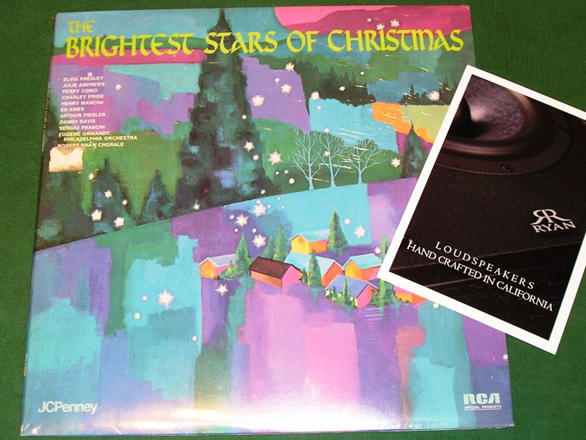 The BRIGHTEST STARS of CHRISTMAS w/ ELVIS PRESLEY - * 1974 RCA SPECIAL PRODUCTS PRESS for JCPENNY * NEW/SEALED