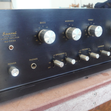 Sansui Amp AU-555A  Working Condition 7/10