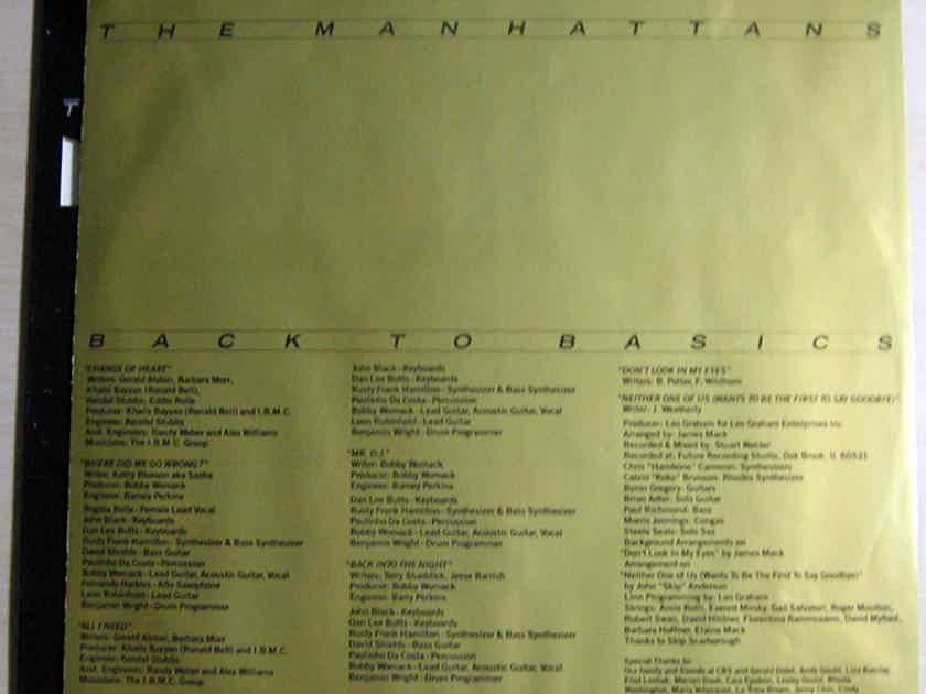 The Manhattans - Back To Basics - 1986  Columbia ‎– FC 40300