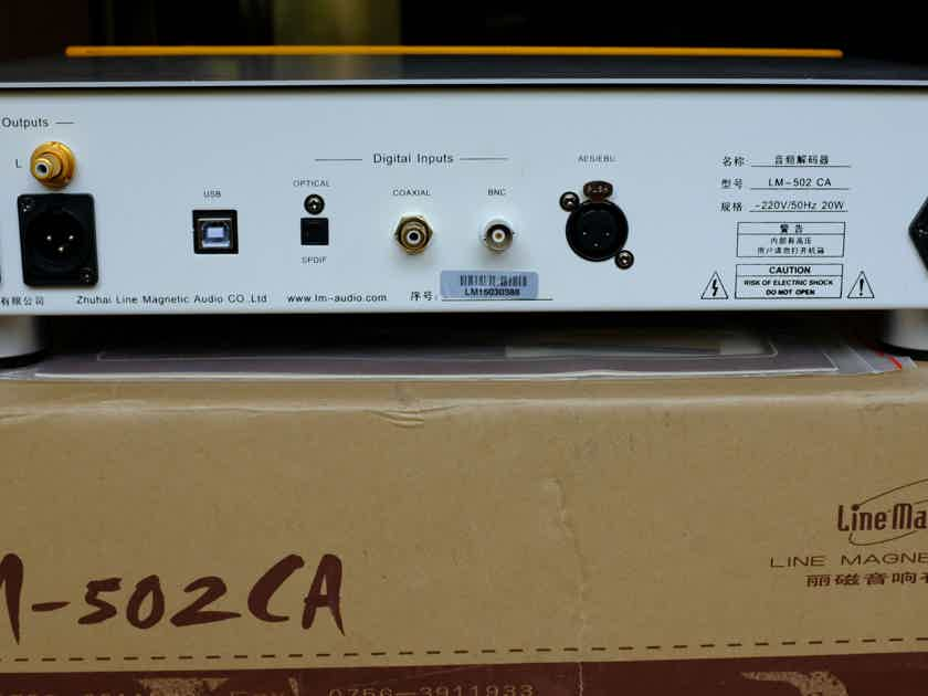 Line Magnetic LM-502CA DAC with a tube output stage
