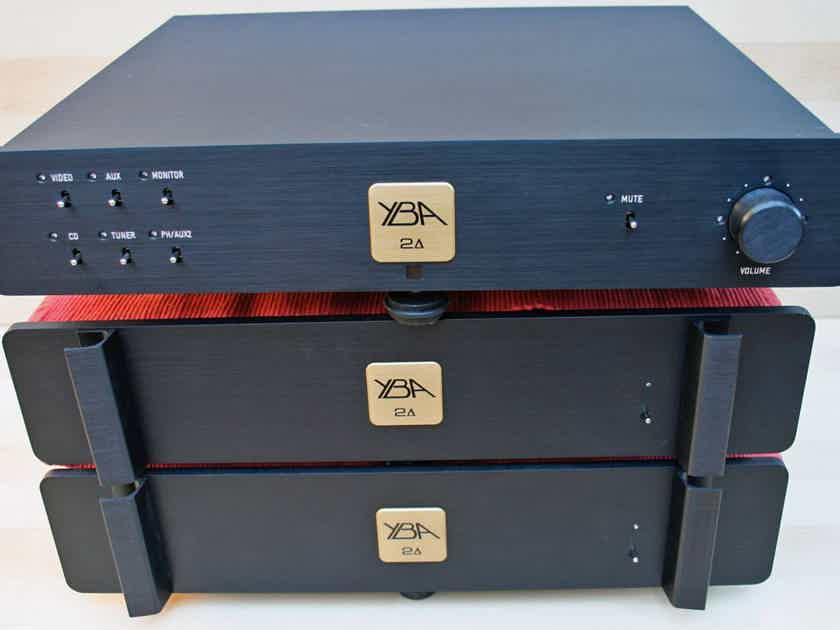 YBA Delta-2 Dual Mono Preamplifier (Upgraded External Power Supply, Remote) - MINT