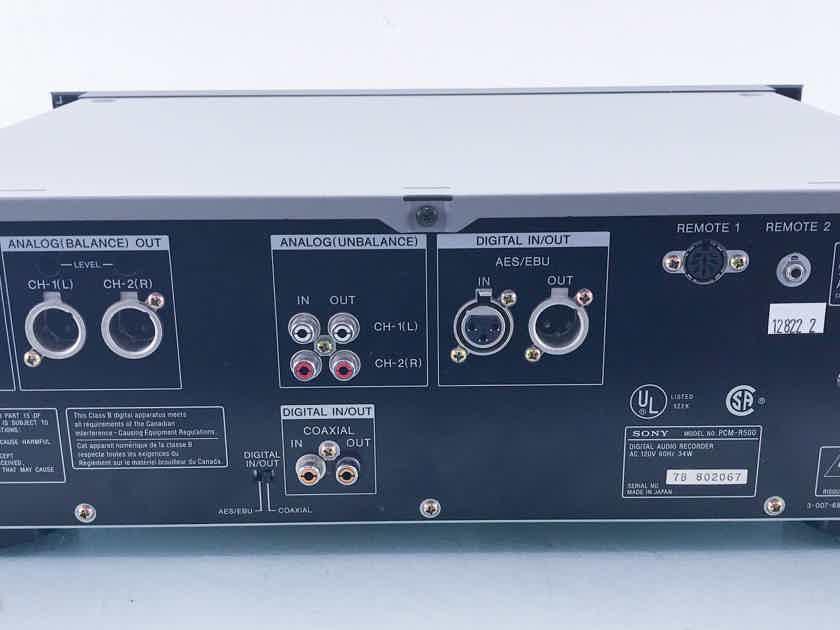 Sony PCM-R500 DAT Cassette Deck PCMR500 Digital Tape Recorder (12822)