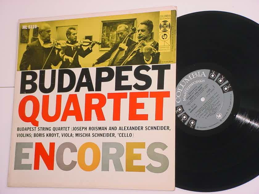 Budapest Quartet encores lp record Columbia 360 sound ML5116 SEE ADD