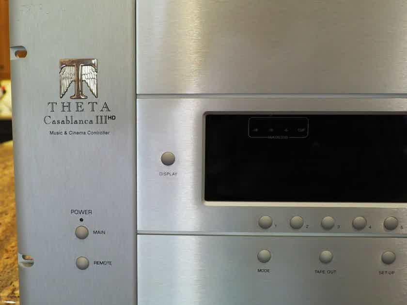 Theta Digital Casablanca III HD Silver Very nice Condition-Factory Checked- CB4a Option!