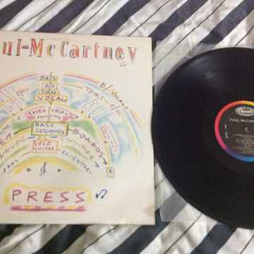 Paul McCartney - Press 12 Inch EP Capitol Records Rainb...