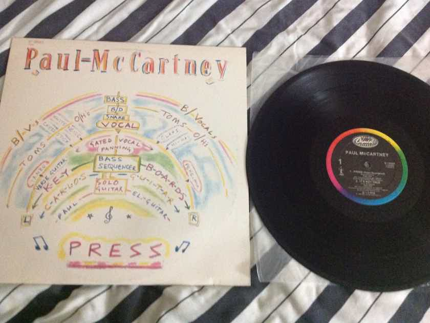 Paul McCartney - Press 12 Inch EP Capitol Records Rainbow Label Vinyl NM