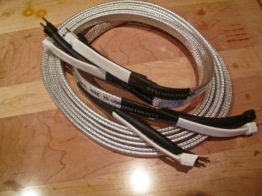 Analysis Plus Inc. Big Silver Oval-Speaker Cables Mint Mint Mint.10 feet long