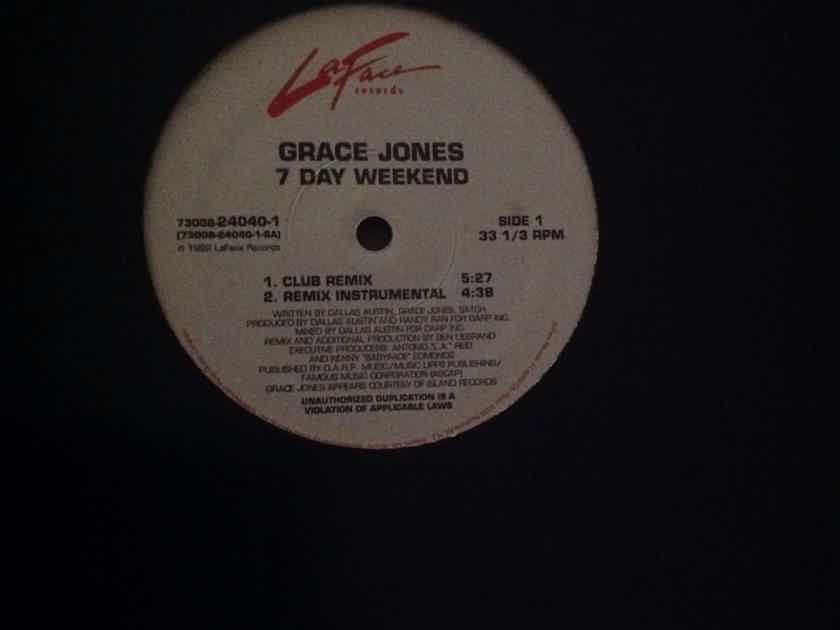 Grace Jones - 7 Day Weekend LaFace Records 12 Inch EP 4 Versions  Vinyl NM
