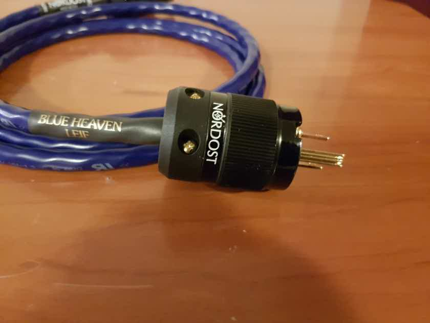 Nordost Blue Heaven Leif Series Power Cable. 1.5 meters long.