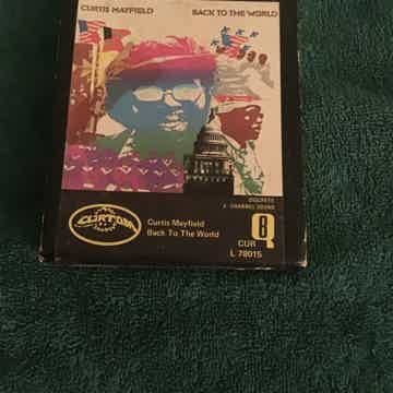 Curtis Mayfield Back To The World Quadraphonic 8 Track