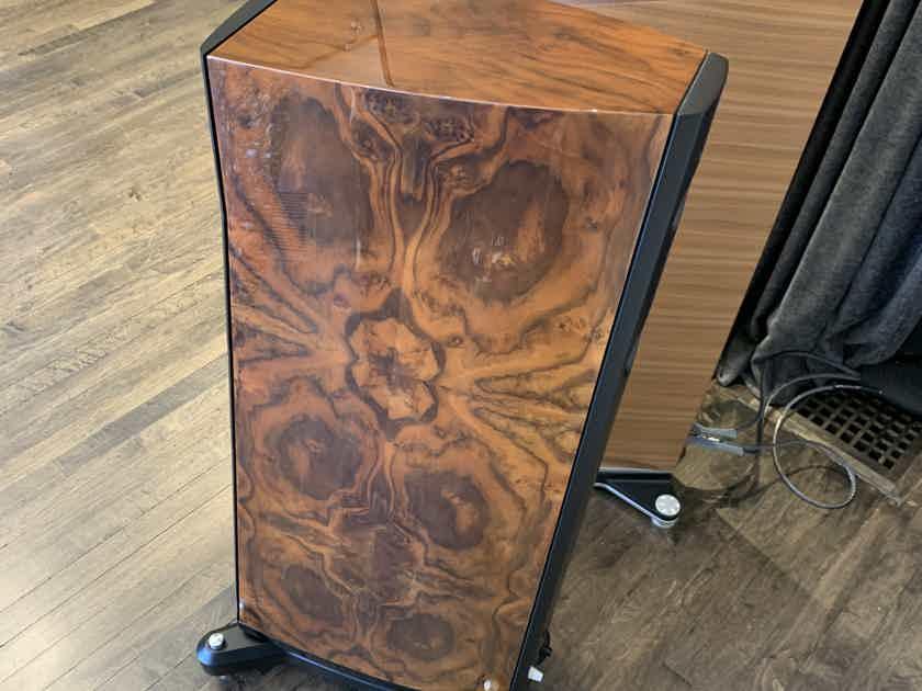 Raidho D2 - Gorgeous Burl Walnut Finish w/ Factory Ordered Black Trim - Mint Customer Trade-In!!!