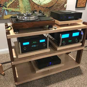 Custom Wood Racks & Stands 3 Shelf, Maple & Walnut