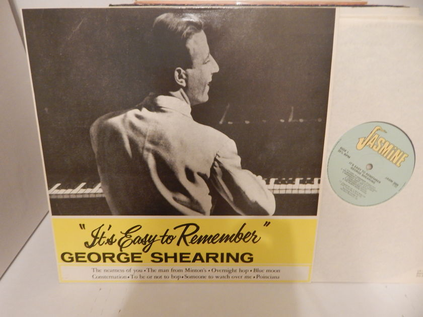 GEORGE SHEARING It's Easy To Remember -  Jasmine JASM 2009 UK Import Mint Vinyl LP