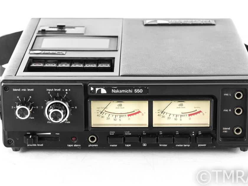 Nakamichi 550 Vintage Portable Cassette Recorder; (No Power Supply) (22784)