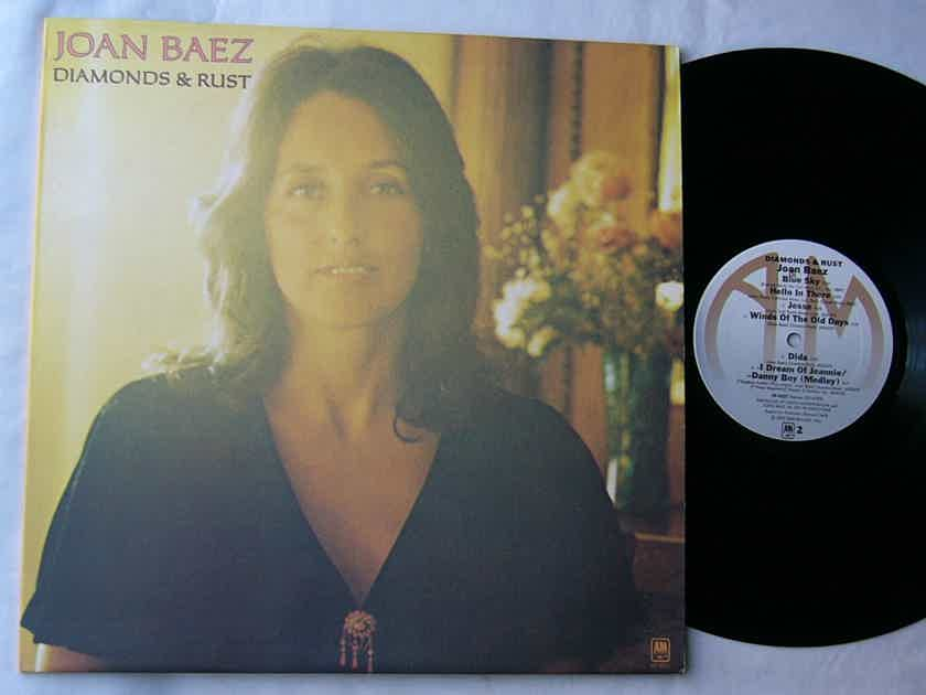 JOAN BAEZ LP--DIAMONDS & RUST-- - rare orig 1975 album on A&M Records SP 4527