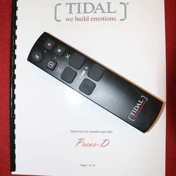 Tidal Audio Preos