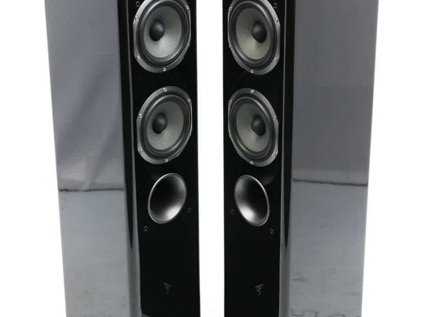 Focal Easya Wireless Powered Floorstanding Speakers; Black Pair; Hub Transmitter (24558)