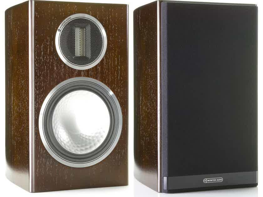 Monitor Audio Gold 100 Speakers (Walnut Veneer): Mint Demo; 1 Yr. Warranty; 36% Off; Free Shipping