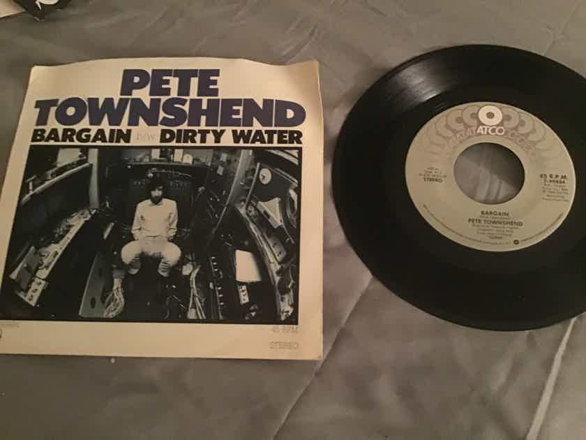 Pete Townshend  Bargain/Dirty Water 45 With Picture Sleeve Vinyl NM