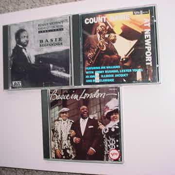 JAZZ Count Basie cd lot of 3 cd's At Newport In London & Beginnings Bennie Moten