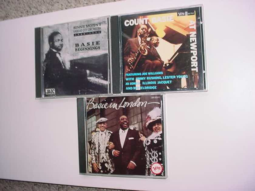 JAZZ Count Basie cd lot of 3 cd's At Newport In London & Beginnings Bennie Moten