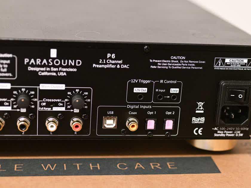 Parasound P6 2.1 Preamp Black