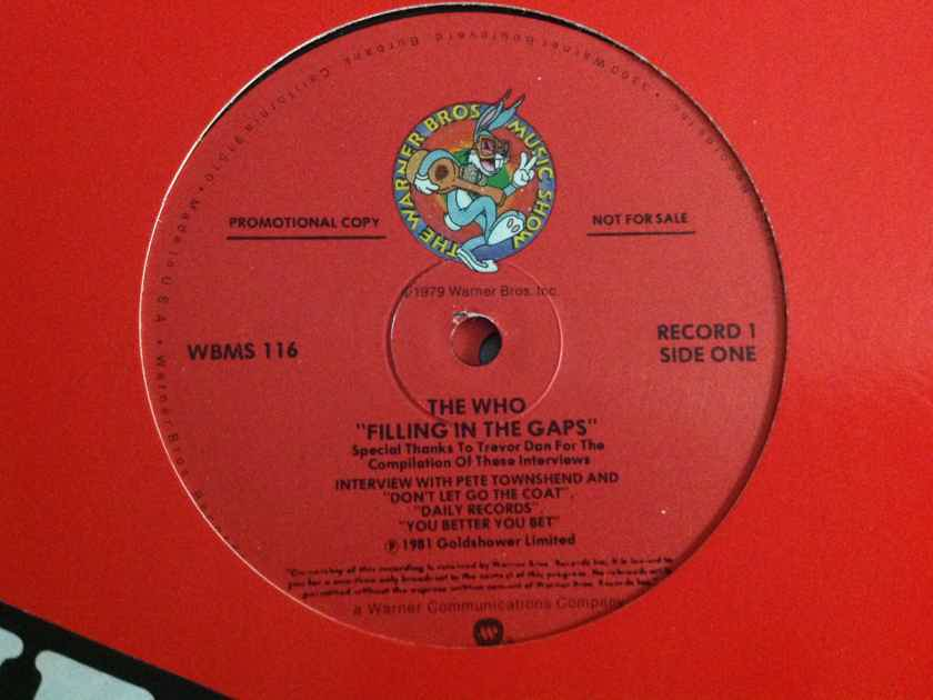 The Who - Filling In The Gaps 2LP Promo Only Interview And Studio Tracks From Face Dances
