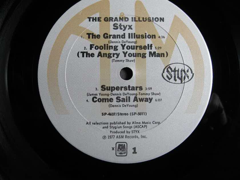 STYX - The Grand Illusion -  Original 1977 A&M Records SP-4637