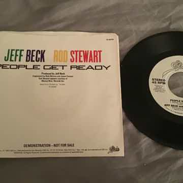 Jeff Beck Rod Stewart  People Get Ready Promo 45 With P...