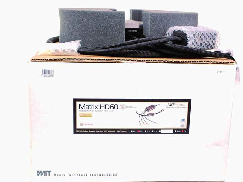 MIT Cables MATRIX HD60 BIWIRE 10 FT PR. USED.  WRNTY