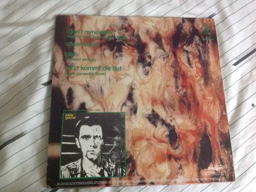 Peter Gabriel  I Don't Remember Charisma Records Canada 12 Inch