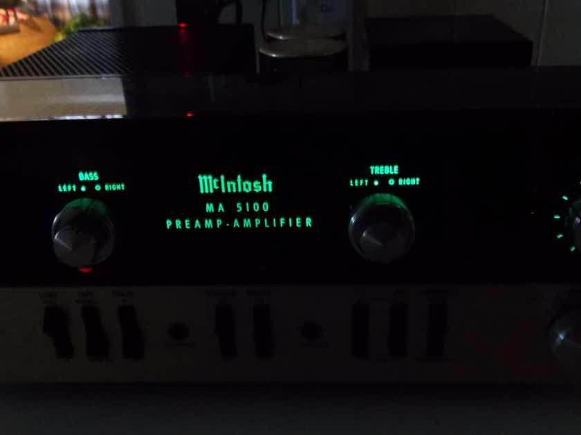 MCINTOSH MADE IN U.S.A  MA5100 INTEGRATED STEREO AMPLIFER EXCELLENT CONDITION