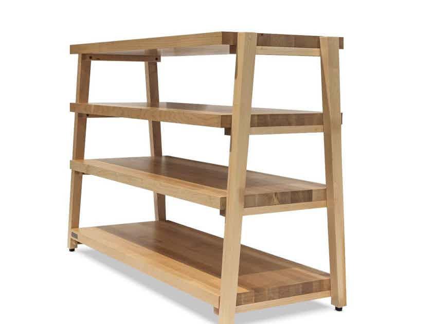 "Butcher Block Acoustics rigidrack® 42"" X 20"" - 4 Shelf - Maple Shelves - Maple Legs"