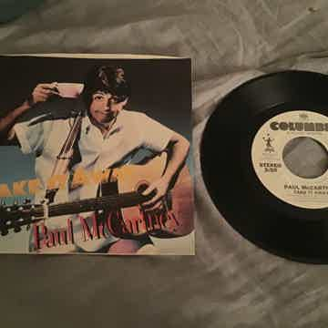 Paul McCartney  Take It Away Promo 45 With Picture Sleeve