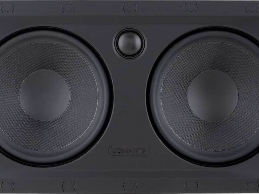Sonance VP62LCR In-Wall LCR Speakers; White Grille Pair; VP-62-LCR (New) (25931)