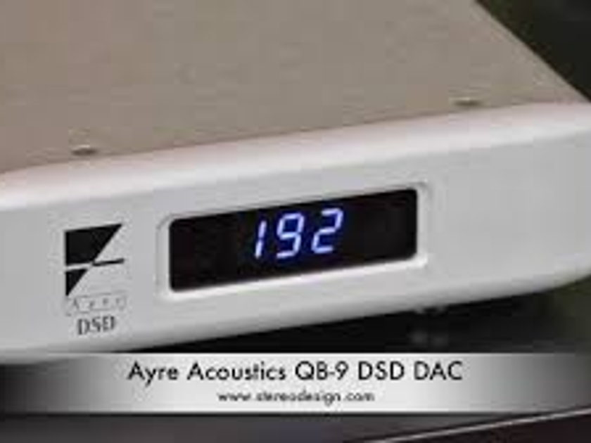 Ayre Acoustics QB-9 DSD USB DAC SILVER Just factory upgraded and Certified with Warranty !