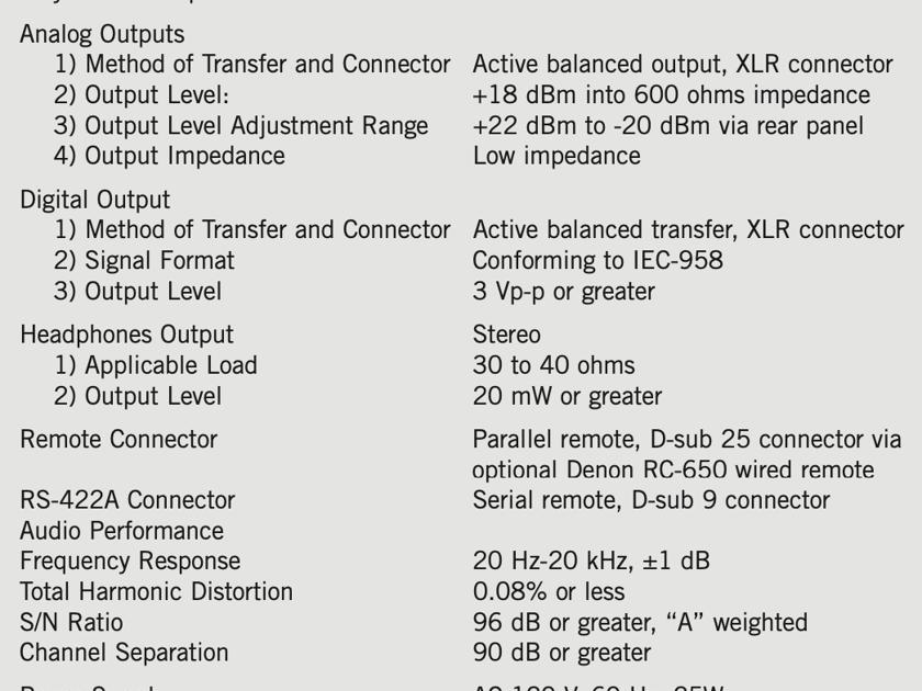 Denon DN-951FA Professional Broadcast Quality CD Player - NEW in Box!