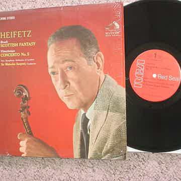 RCA red seal Heifetz lp record Bruch Scotish fantasy Vieuxtemps no5