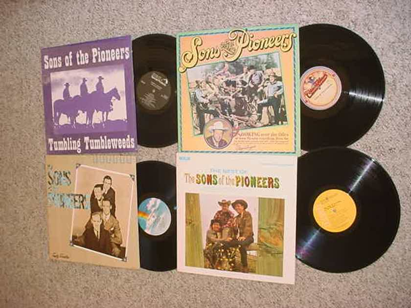 Sons of the Pioneers - lot of 4 lp records country western